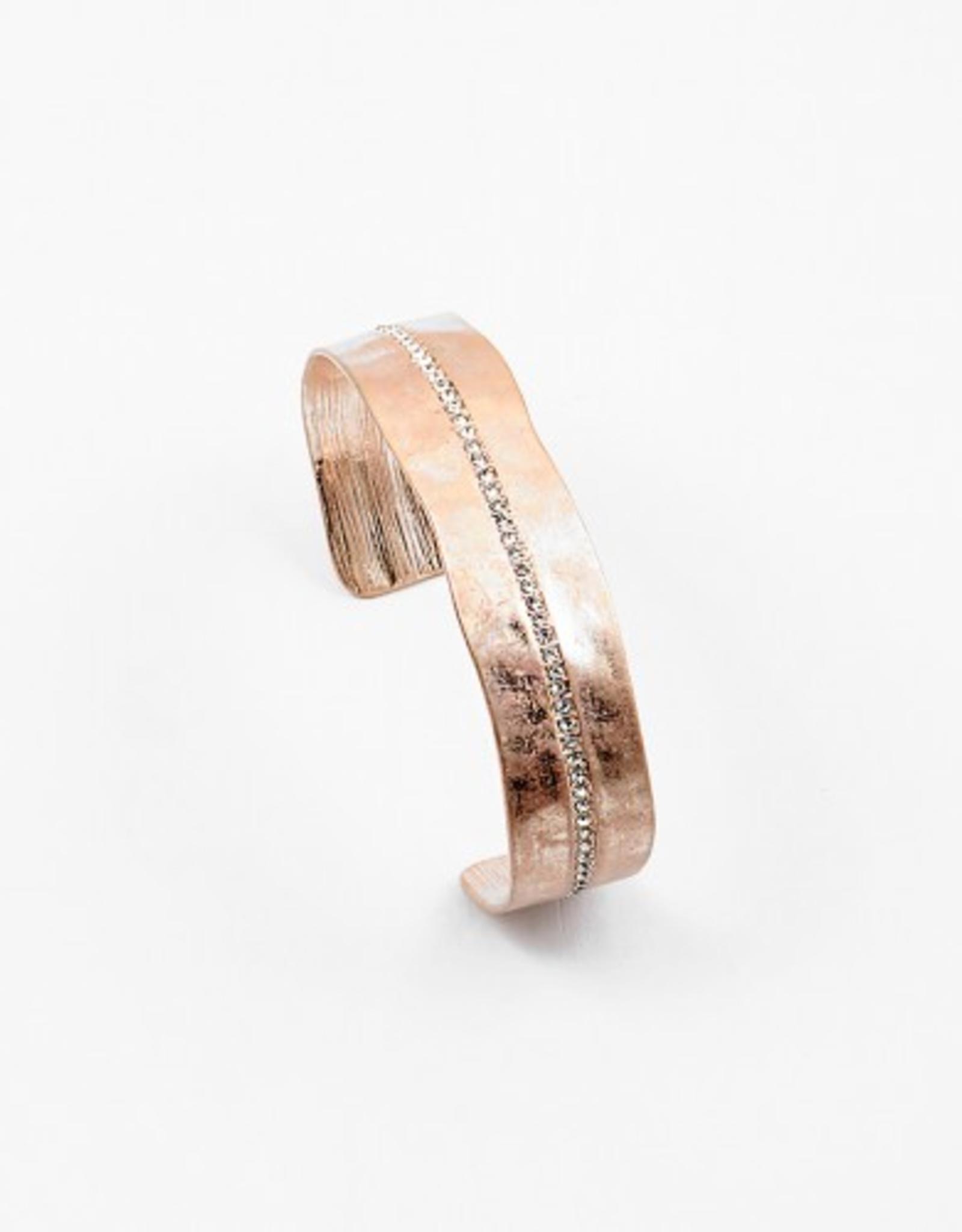 Blue Suede Jewels CZ Small Cuff Bracelet