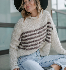 Love Stitch Snuggly Striped Pullover Sweater