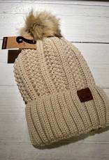 CC Lined Pom Pom Hat