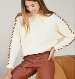 Molly Bracken Dolman  Sweater with Sleeve Detail