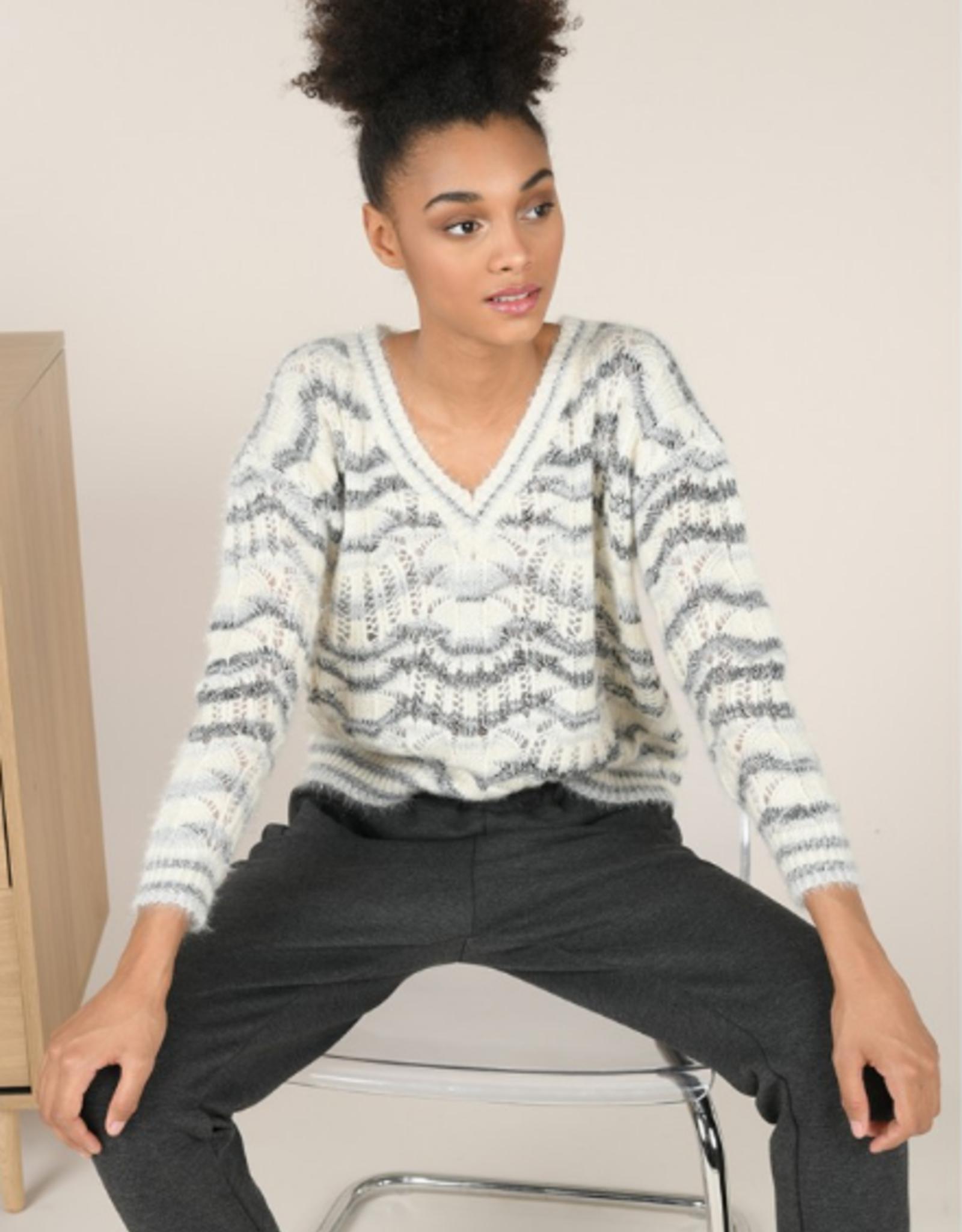 Molly Bracken Sparkly V Neck Sweater
