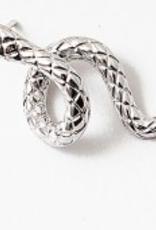 Blue Suede Jewels Silver Swirly Snake Stud Earring