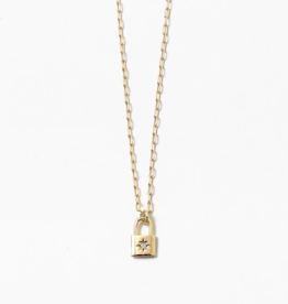 Blue Suede Jewels Starburst Lock Necklace