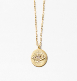 Blue Suede Jewels Gold Eye Necklace