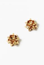 Blue Suede Jewels Bow Stud Earrings