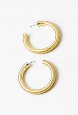 Blue Suede Jewels Gold Hoops