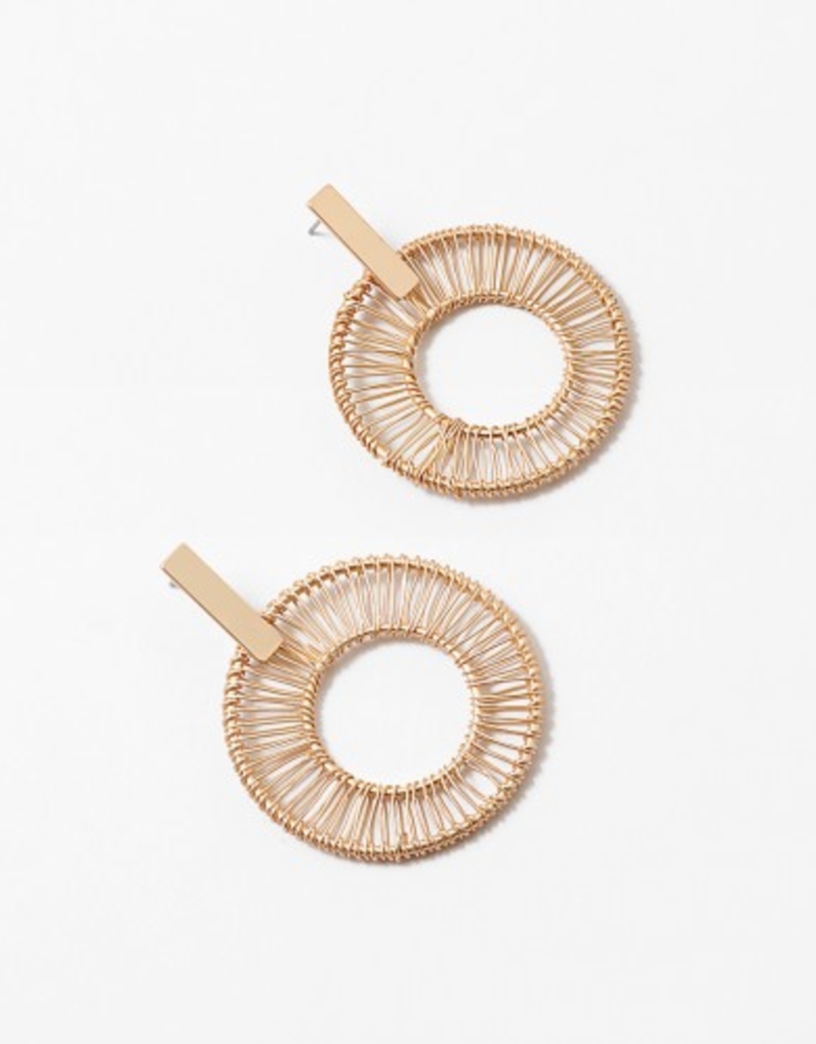 Blue Suede Jewels Circle Wire Earring