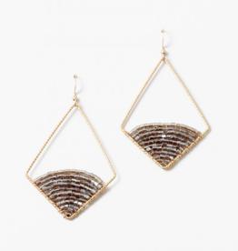 Blue Suede Jewels Beaded Diamond Earring