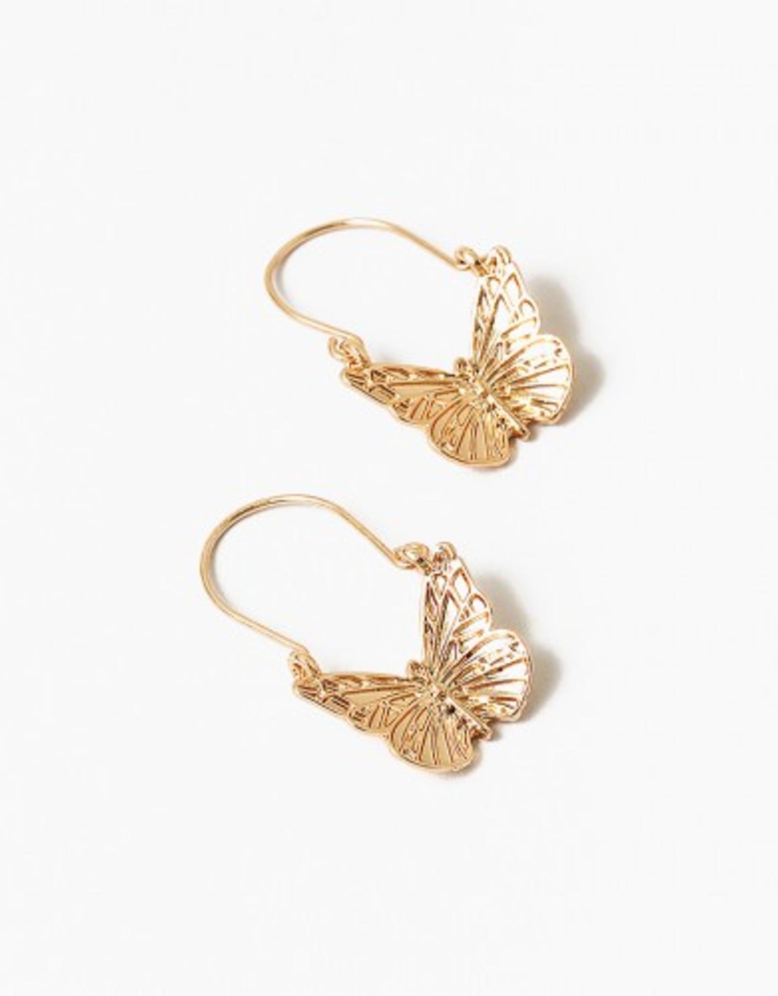 Blue Suede Jewels Butterfly Earring