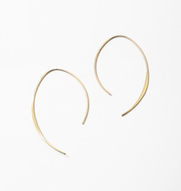 Blue Suede Jewels Gold Curve Earring
