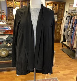 Bobi Black Open Front Cardigan