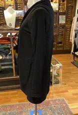 Bobi Black Open Front Cardigan