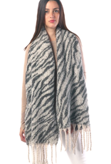 Blue Suede Jewels Animal Printed Oblong Scarf