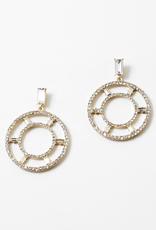 Blue Suede Jewels Crystal Statement Earrings