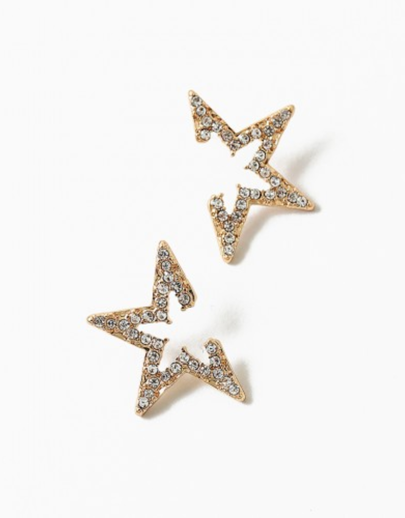 Blue Suede Jewels Gold Star Stud Earring