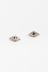 Blue Suede Jewels Evil Eye Stud Earring