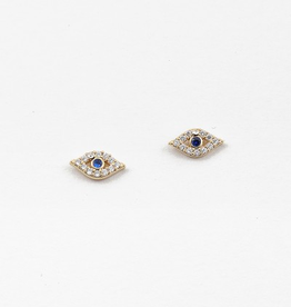 Blue Suede Jewels Evil Eye Stud Earring
