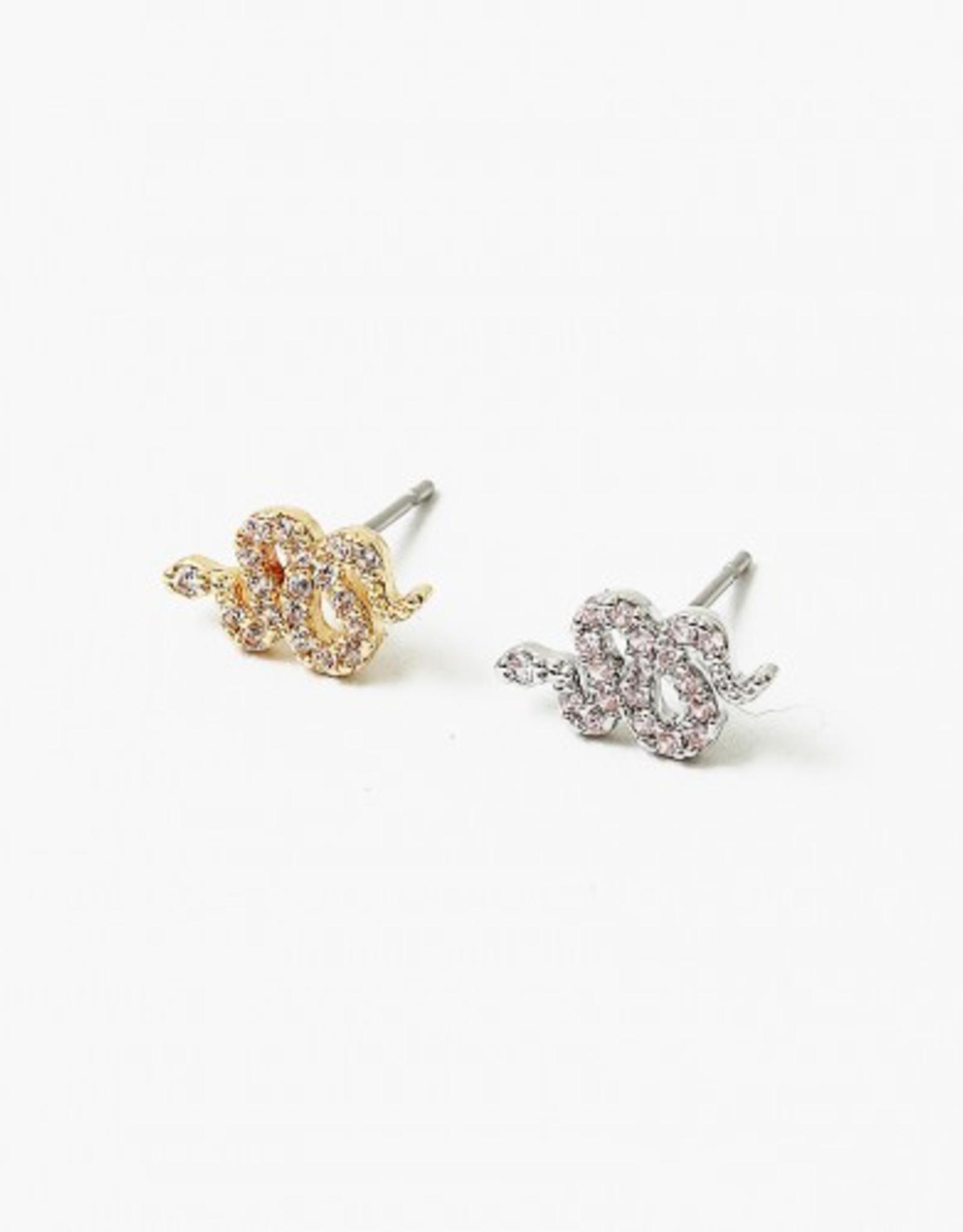 Blue Suede Jewels Snake Stud Earring