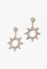 Blue Suede Jewels Crystal Star Earrings