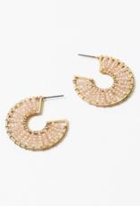 Blue Suede Jewels Beaded Hoop Earring