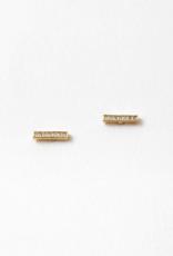 Blue Suede Jewels Bar Stud Earring