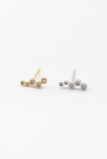 Blue Suede Jewels Crystal Stud Earring