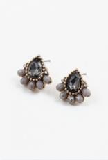 Blue Suede Jewels Crystal & Beaded Stud Earring