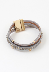Blue Suede Jewels Star Suede Layered Bracelet