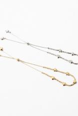 Blue Suede Jewels Silver Star Adjustable Bracelet