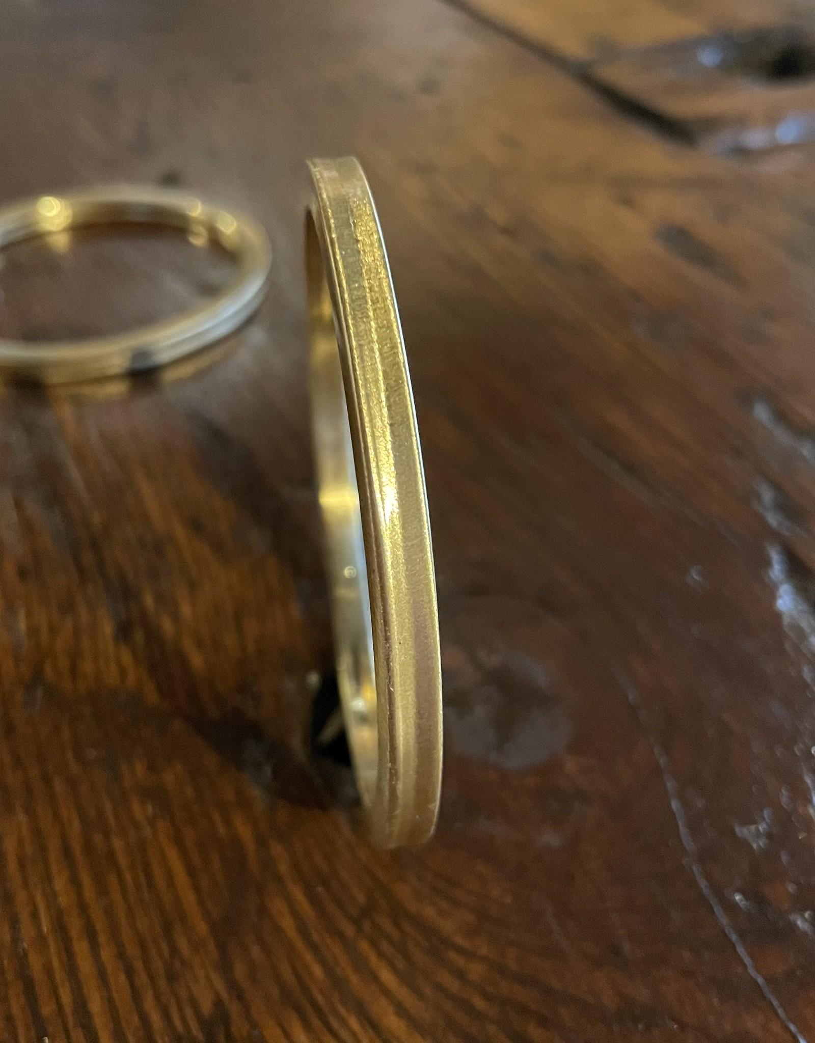 Blue Suede Jewels Gold Beveled Bangle