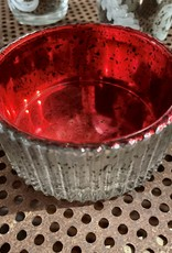 One Hundred 80 Degrees Red Low Votive Candle Holder