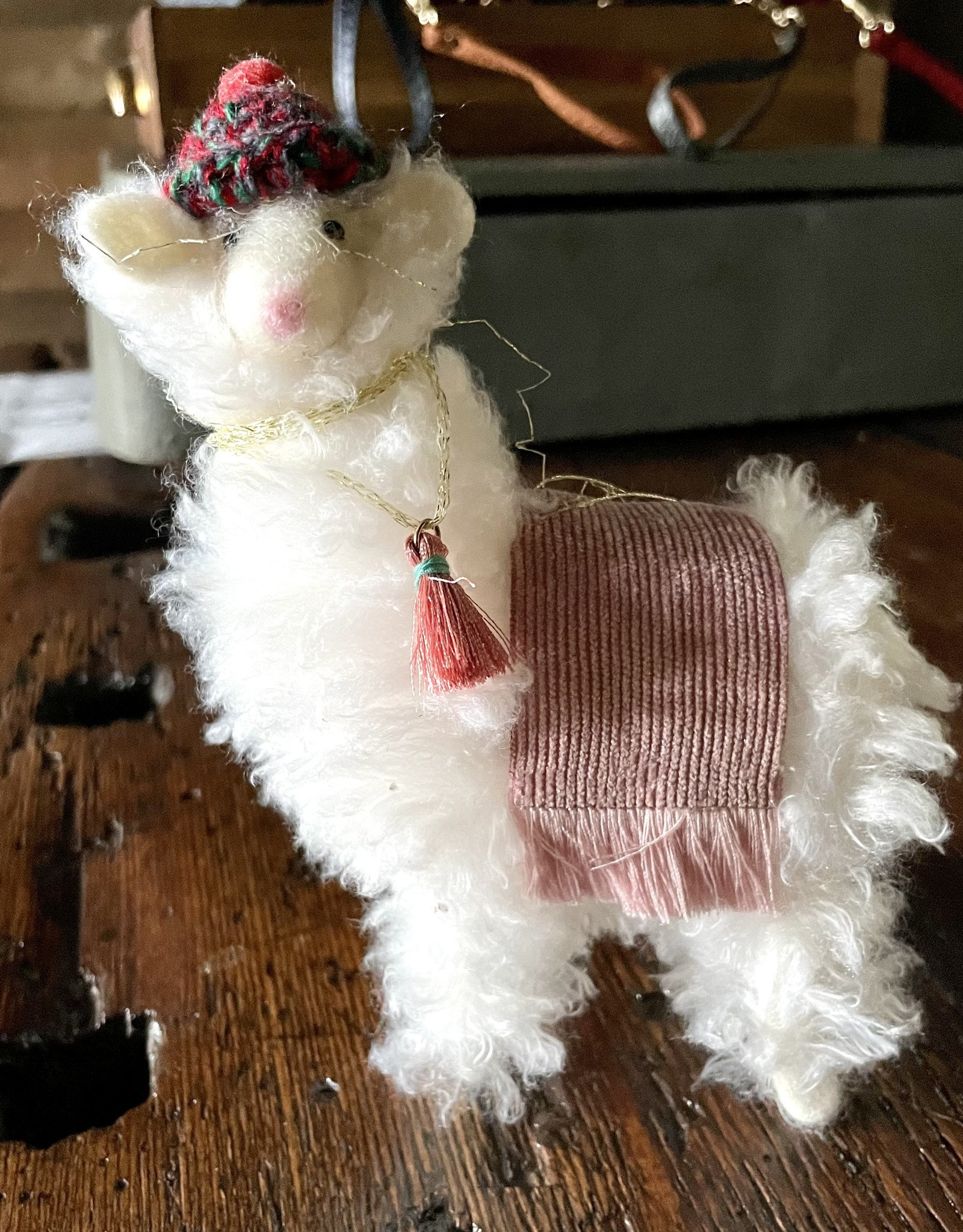 One Hundred 80 Degrees Puffy Llama Ornament