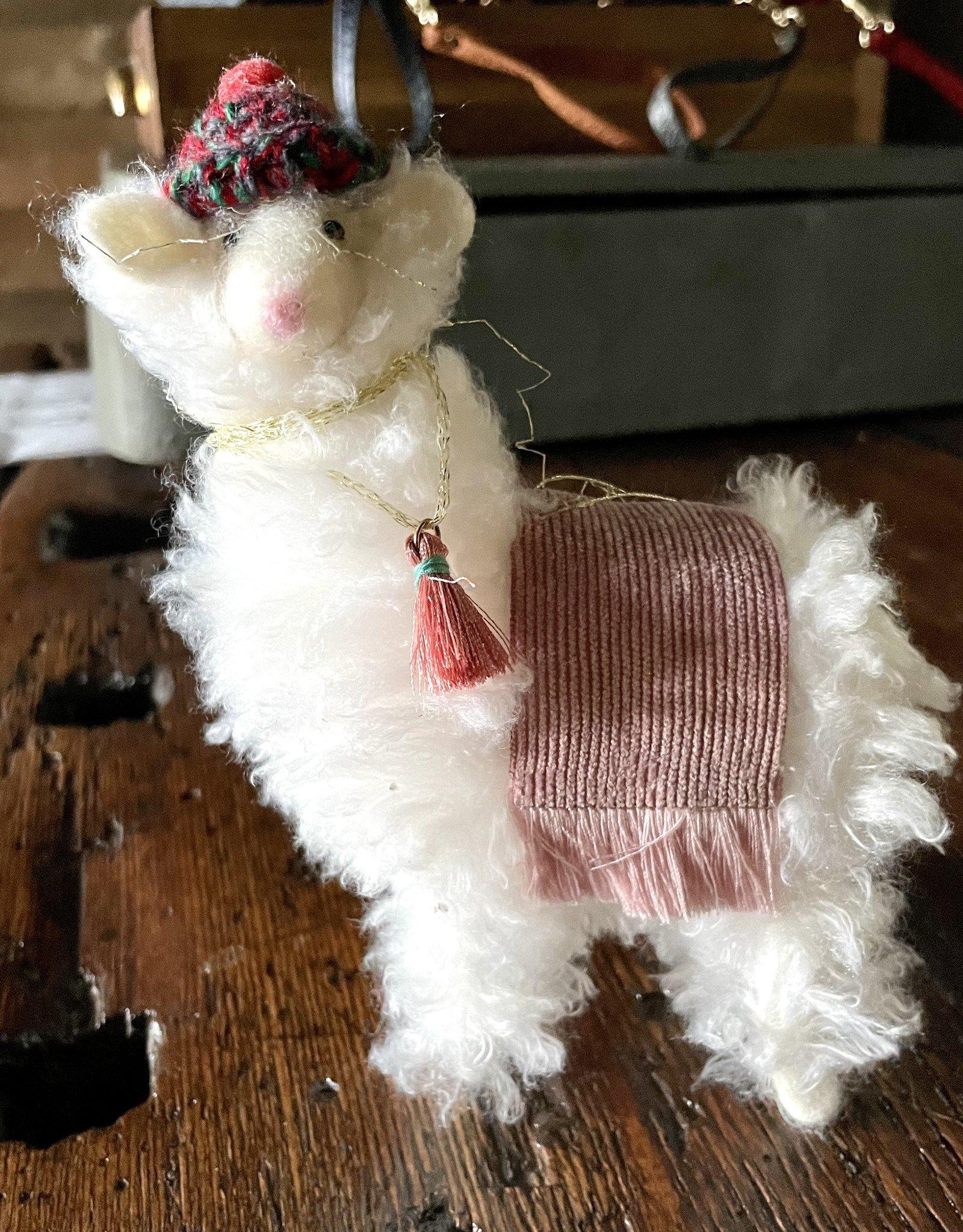 One Hundred 80 Degrees Puffy Llama Ornament