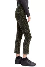 Levi's 724 Leopard Camo Printed Cropped Straight-Leg Jeans