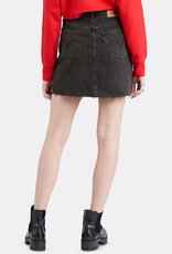 Levi's Iconic Cotton Denim Mini Skirt In Turn (Washed Black)