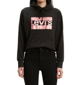 Levi's Metallic Rose Gold / Black Logo Pullover Hoodie