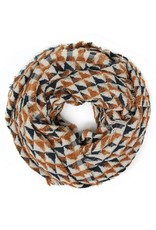 Blue Suede Plaid Checkered Infinity Scarf