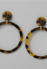 Blue Suede Jewels Acetate Hoop Drop Earrings