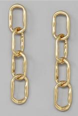 Blue Suede Jewels Linked Hammered Metal Earrings