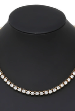 """Blue Suede Jewels Glass Stone Tennis Necklace (18"""")"""