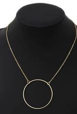 Blue Suede Jewels Delicate Hoop Pendant Necklace