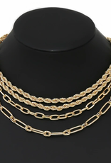 Blue Suede Jewels Assorted Chain Necklace Set