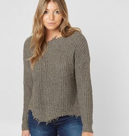 White Crow VALLE DISTRESSED KNIT SWEATER