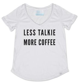 TBH Less Talkie V Neck Tee
