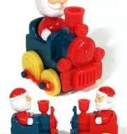 Santa Rides Train Christmas Wind Up