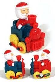 Santa Rides Train Christmas Wind Up
