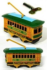 Broadway New York Trolley Tin Wind Up