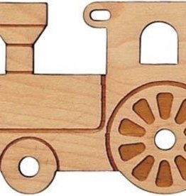 Cut -Out Maple Engine Ornament