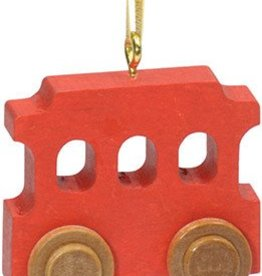 Red Trolley Christmas Ornament Custom STM