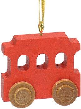 Red Trolley Christmas Ornament Custom STM